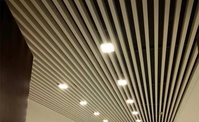 【旗禹】江苏商场造型铝方通吊顶施工,无锡商场造型铝方通厂家