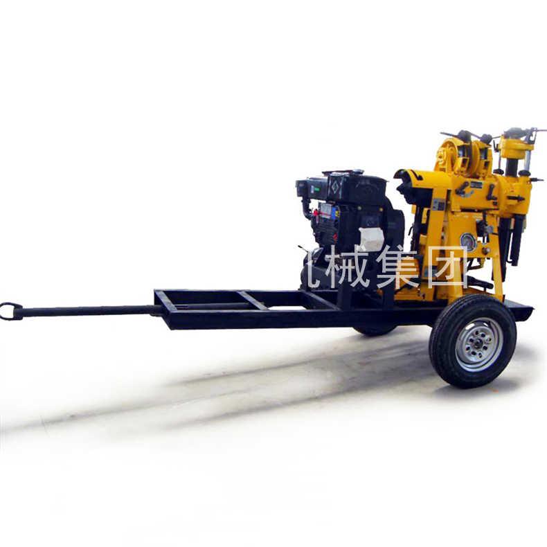 轮式勘探钻机拖挂岩心钻机扭矩大钻进快XYX-130