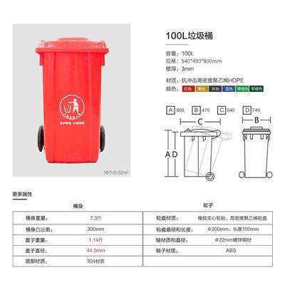 大足区环卫垃圾桶/100L分类垃圾桶  分类垃圾桶厂家直销
