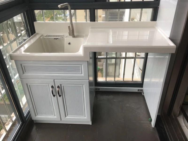 奥晶AOJ浴室洗衣柜全铝智能家居铝合金洗衣柜定制