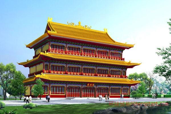 仿古钢结构工程公司专业设计、制造、安装!钢结构仿古建筑-钢结构仿古牌坊