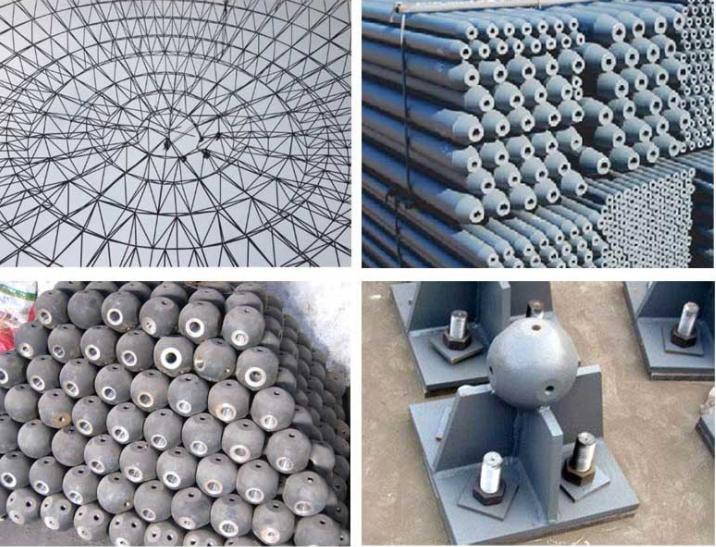 菏泽网架公司-菏泽网架加工厂-菏泽螺栓球网架-菏泽焊接球网架