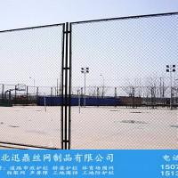 迅鼎墨绿色网球场护栏网价格镀锌丝PVC包塑勾花网编织