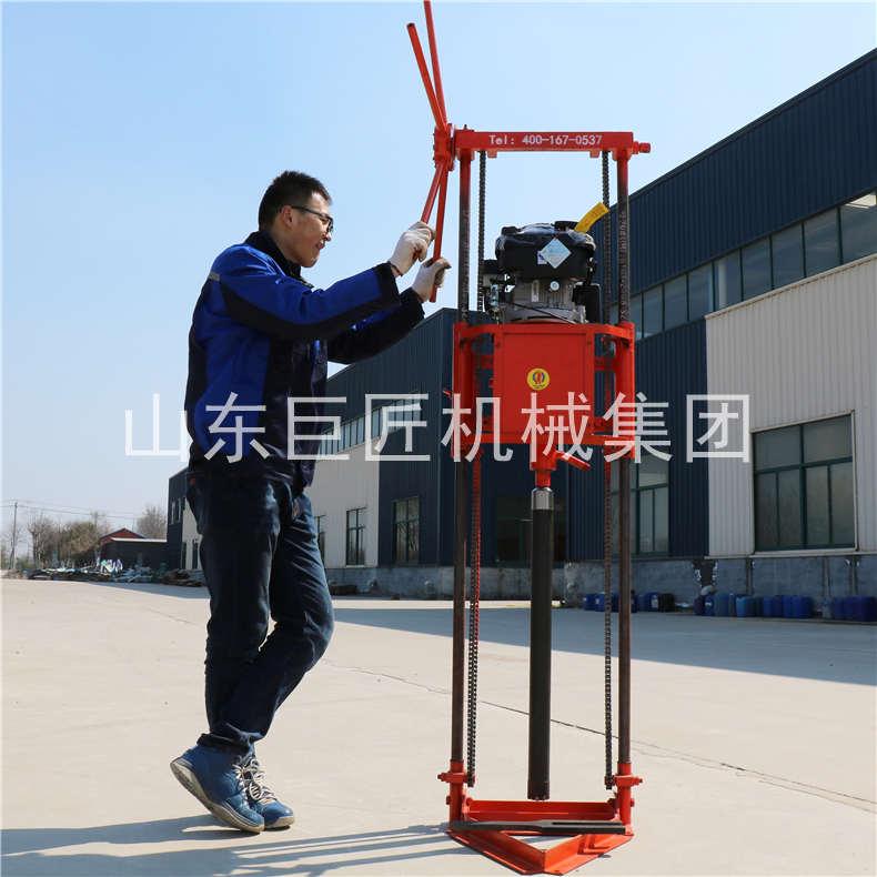 巨匠集团提供QZ-2B勘探岩芯钻机轻便取心钻机体积小重量轻