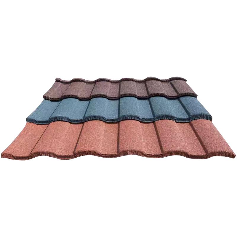 彩虹瓦 罗马瓦 屋面用彩石金属瓦 彩石金属瓦厂家 屋面建材