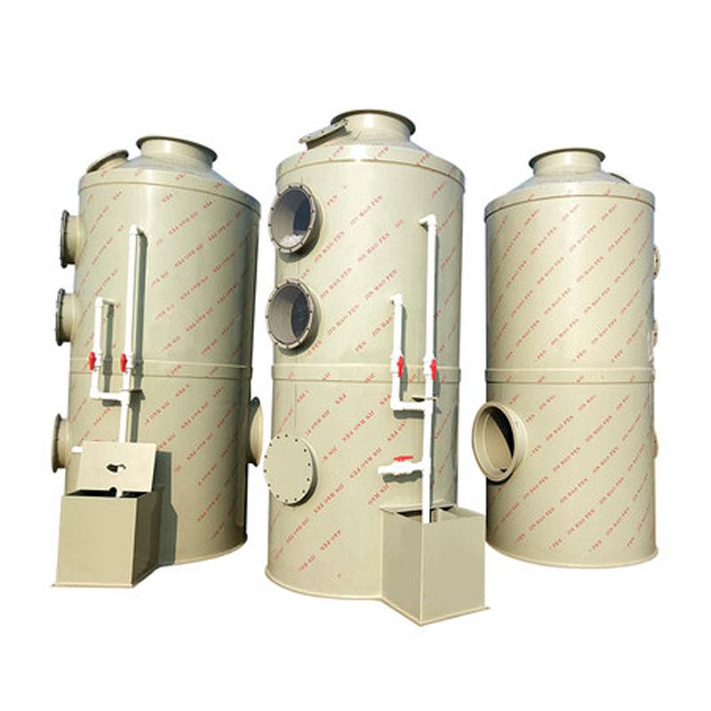 橡胶厂PP喷淋塔酸碱废气处理环保净化塔废气处理催化燃烧设备