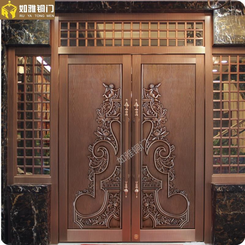 商务铜门铜门制作会所铜门加工