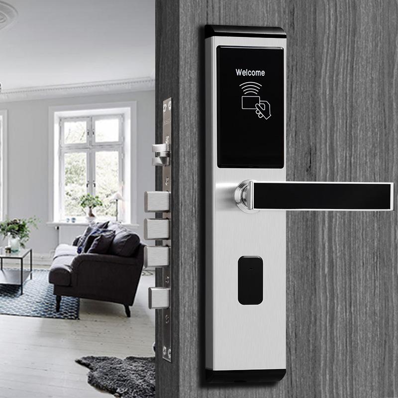 酒店宾馆防盗锁刷卡锁木门防盗门家用门禁一体公寓民宿磁卡感应锁