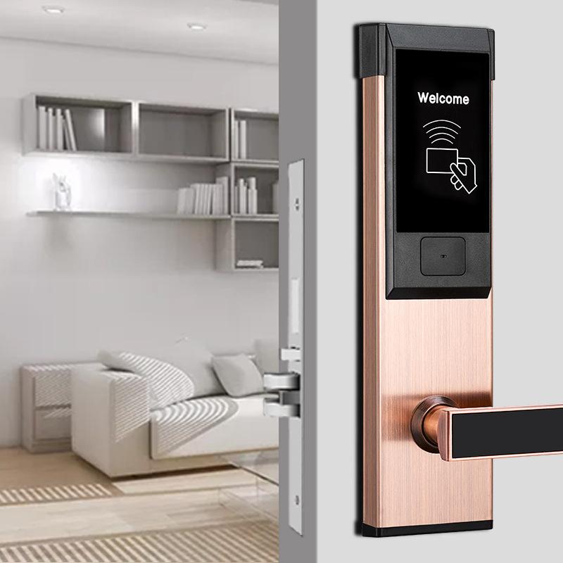 酒店门锁厂家宾馆刷卡锁磁卡感应锁电子智能门锁IC卡锁公寓民宿