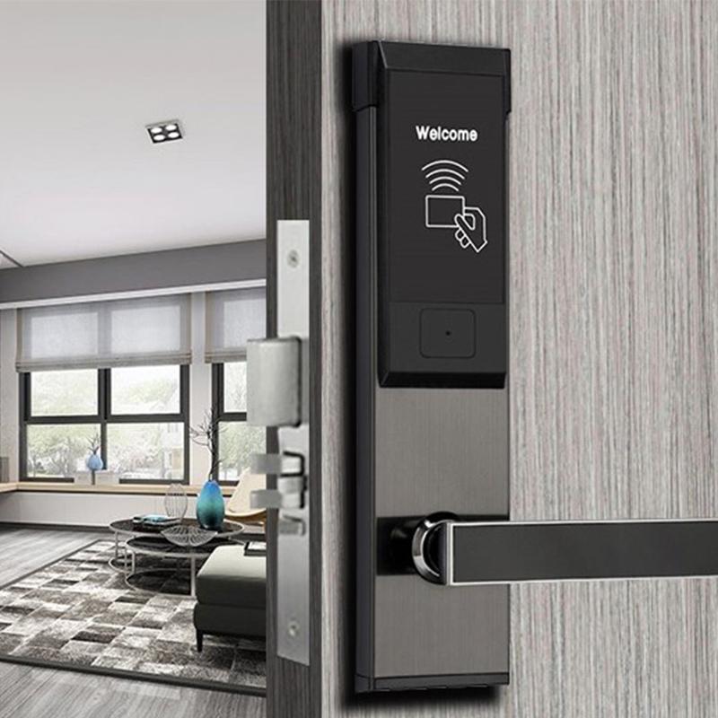公寓刷卡锁宾馆门锁磁卡锁感应锁酒店刷卡锁智能门锁电子感应门锁