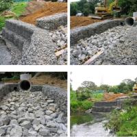 河道保护石笼网,包塑格宾网垫