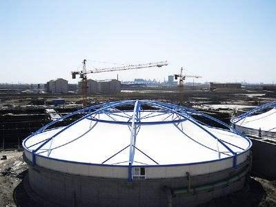 菏泽膜结构污水池加盖专业厂家-菏泽化粪池沼气池膜结构加盖施工