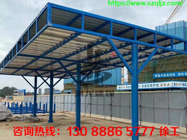 建筑施工钢筋加工棚安全防护棚生产厂家琪龙建筑
