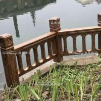 江阴市兴港社区水泥护栏木纹施工包工包料