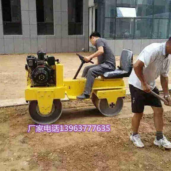 现货直发座驾式双轮震动压路机方向盘式式压实机回填土轧地机