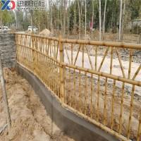 景区公园黄色假竹子护栏仿真竹子围栏仿竹篱笆