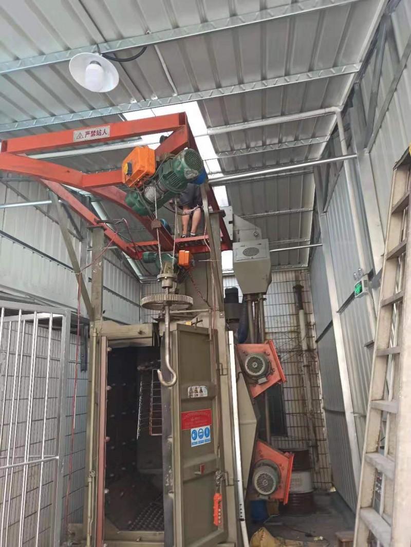 清理表面氧化层油漆翻新 吊挂式抛丸清理机 兰州自动喷丸机