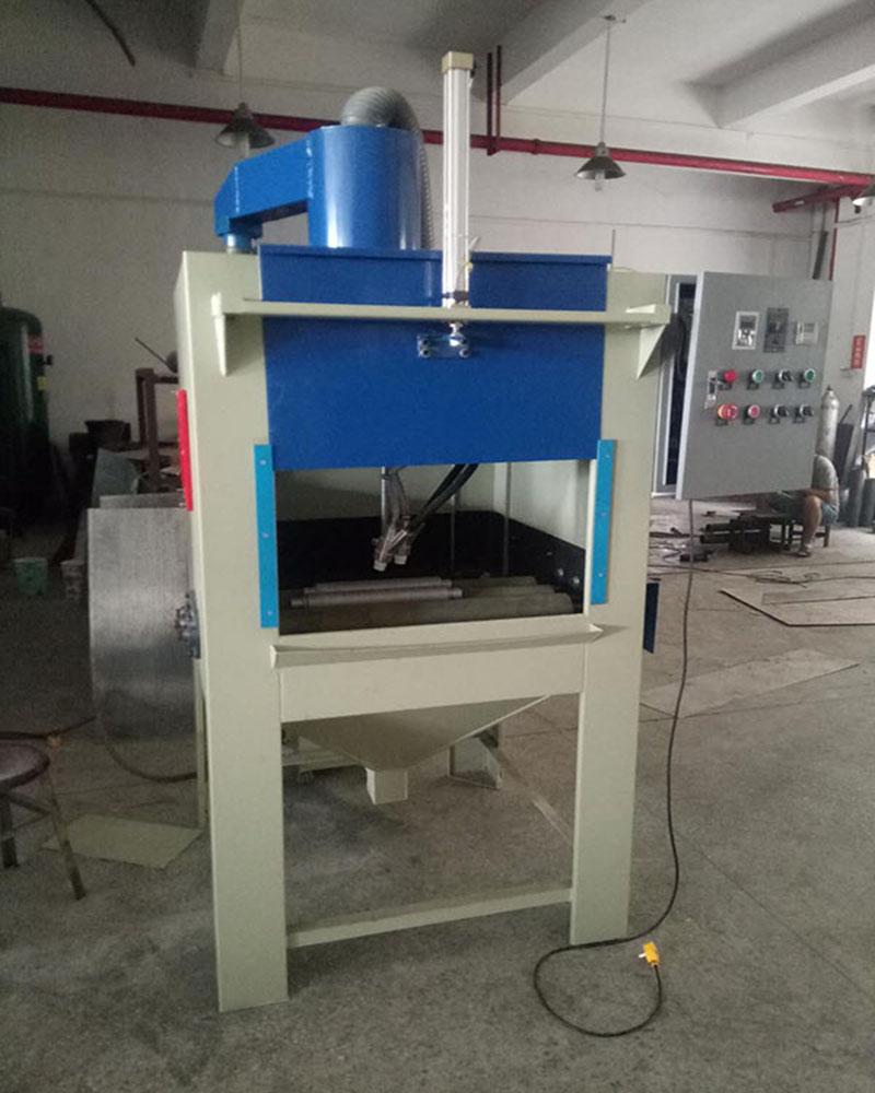 圆管表面纹路粗细处理工艺专用设备 兰州圆管自动喷砂机