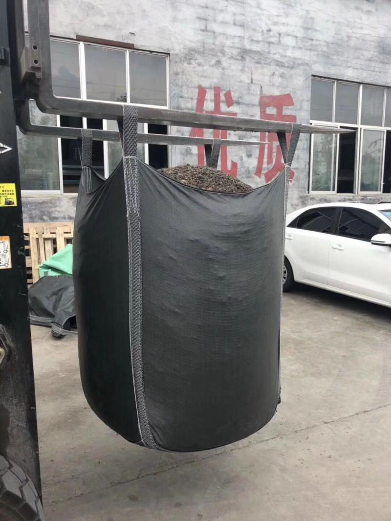 吨包袋拉筋厂家平行托底加厚耐磨1吨黑色吨包污泥吨袋编织袋