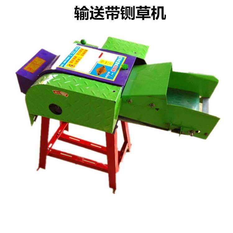 电动铡揉一体机 输送带自动进料铡草机 青饲料秸秆铡草揉丝机
