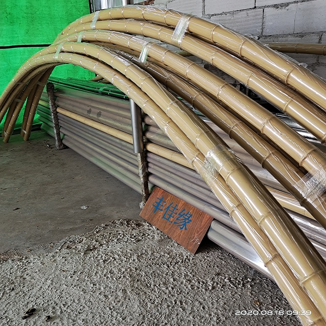 竹吊顶可弯弧竹杆厂家丰佳缘