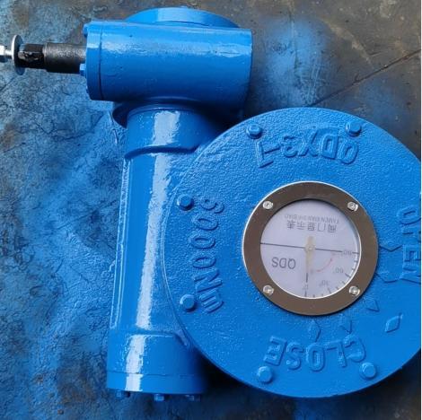 QDX3-7蜗轮蜗杆减速机,DN400蝶阀蜗轮减速机