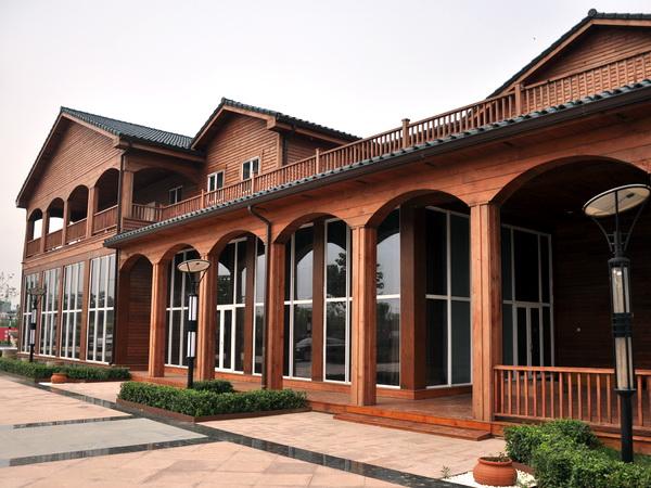 晋州防腐木屋木屋木结构景观小品加工厂家