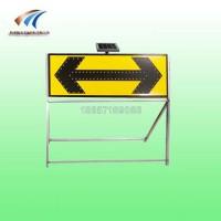 道路施工导向标志双向太阳能导向灯led发光警示牌