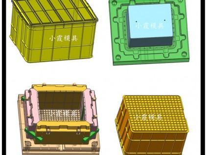 小霞模具做周转箱模具新款胶框模具关于做塑料筐子模具