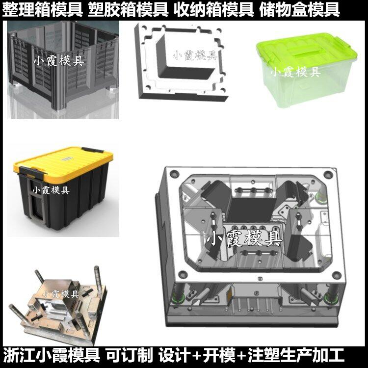 PET塑料收纳箱模具 塑料钓鱼箱模具厂家