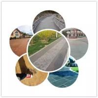 景区古镇仿石压花路面地坪,材料脱模粉强化料保护剂,模具借用