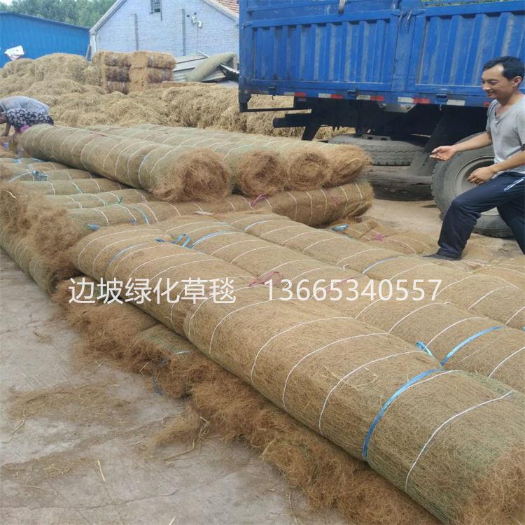 爆款植物纤维毯 环保草毯 椰丝毯 生态修复 河道边坡绿化