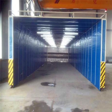 厂家供应伸缩移动喷漆房 配环保设备制造商