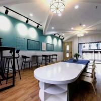 防水锁扣地板 办公室酒店木纹SPC锁扣地板