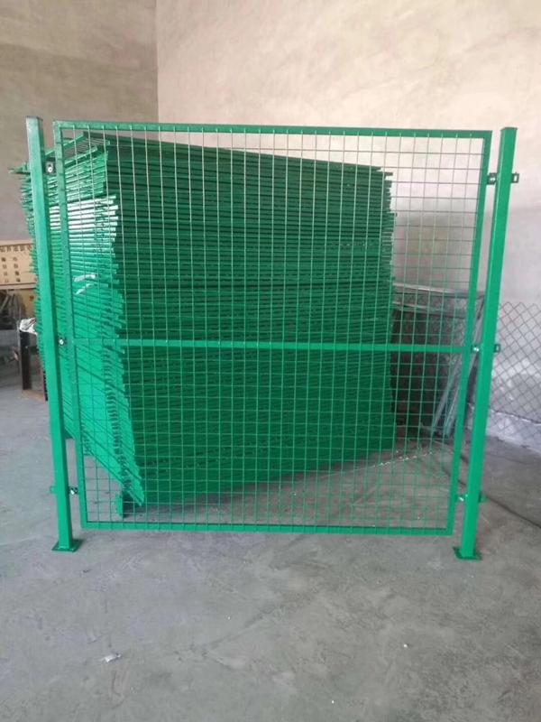 车间草绿色框架护栏网生产厂家