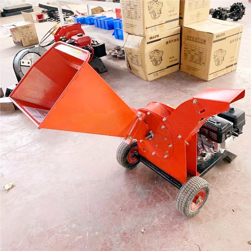 电动小型碎枝机 果树枝条粉碎机厂家批发 1公分小型柴油碎枝机